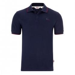 Lonsdale Joel Herren Slim Fit Poloshirt Navy