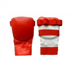 Karate Mitts Rot Leder