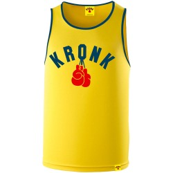 Kronk Two Colour Gloves Trainings Gym Vest Yellow