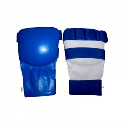 Karate Mitts Blau Leder
