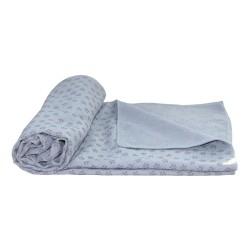 Tunturi Yoga Handtuch 180cm grau mit Tasche