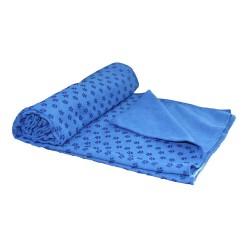 Tunturi Yoga Handtuch 180cm blau mit Tasche