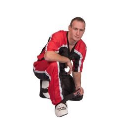 Top Ten Kickboxjacke Mesh T-Shirt Schwarz Rot