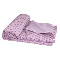 Tunturi Yoga Handtuch 180cm pink mit Tasche