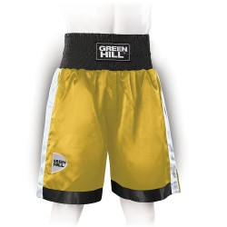 Green Hill Piper Boxing Shorts Gold Schwarz Weiss