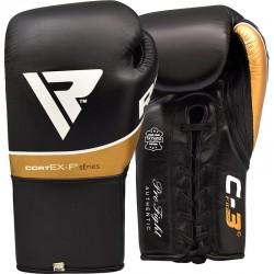 RDX Boxhandschuh Leder Pro FC3 schwarz