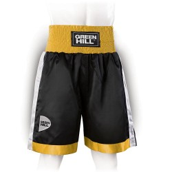 Green Hill Piper Boxing Shorts Schwarz Gold Weiss
