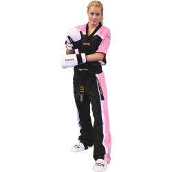 Top Ten Kickboxjacke Mesh T-Shirt Schwarz Pink