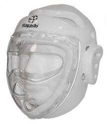 Hayashi Kopfschutz weiß mit Carbonmaske