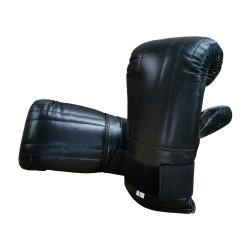 Sandsackhandschuhe Schwarz Klettverschluss Leder