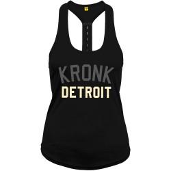 Kronk 2 Colour Detroit Elastic Racer Back Vest Black