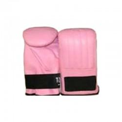 Sandsackhandschuhe Pink Klettverschluss Leder