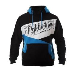 Fightnature Hoody schwarz blau
