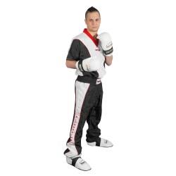 Top Ten Kickboxjacke V- Ausschnitt T-Shirt Schwarz Weiss