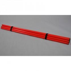 Phoenix Trainingsstangen Set 8Stück 120cm Rot