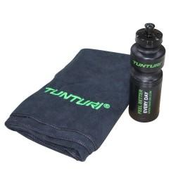 Tunturi Handtuch und Trinkflasche Set