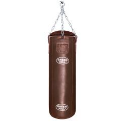 Green Hill Boxsack Leder Braun 100cm ungefüllt