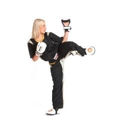 Top Ten PQ Mesh Kickboxuniform Schwarz Gold