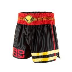 Bad Boy Tii Sok Muay Thai Fightshorts Black Red Gold