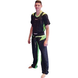 Top Ten PQ Mesh Kickboxuniform Schwarz Grün