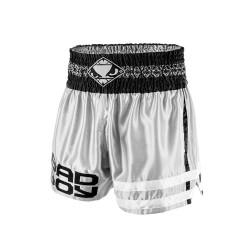 Bad Boy Tii Sok Muay Thai Fightshorts Grey Black White