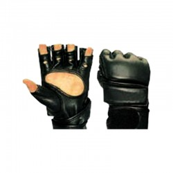 Punching Free Fight Mitts SYN Modell Schwarz Leder