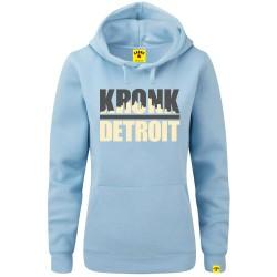 Kronk Detroit Skyline Hoodie Women Sky Blue