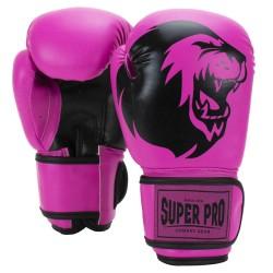 Super Pro Talent Boxhandschuhe Pink Schwarz Kids