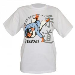 Dax T-Shirt Judo Uchimata 3D Weiss