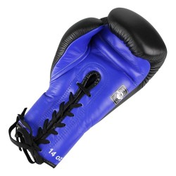 Twins BGLL 1 Boxing Gloves Leather Blue Black