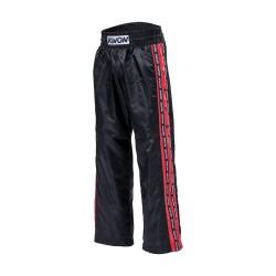 Kwon Profi Design Satinhose schwarz rot