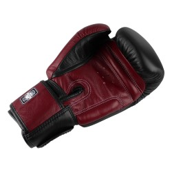 Twins BGVL 3 Boxing Gloves Leather Black Wine Red