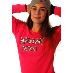 Kronk Detroit Camo Marl Sweatshirt Pink