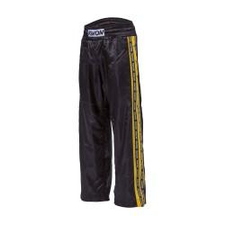 Kwon Profi Design Satinhose schwarz gelb