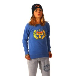 Kronk Laurel Wreath Marl Sweatshirt Blue