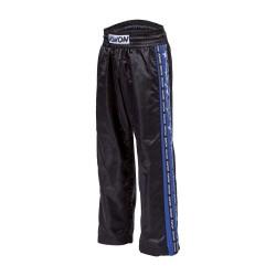 Kwon Profi Design Satinhose schwarz blau