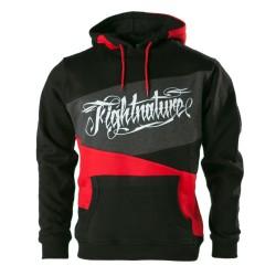 Fightnature Hoody schwarz rot grau