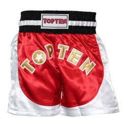 Top Ten Kick Light Kickboxshorts Rot Weiss