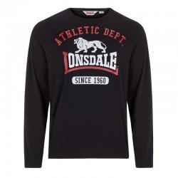 Lonsdale Tetsworth Herren T-Shirt LS Black