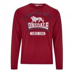 Lonsdale Tetsworth Herren T-Shirt LS Dark Red