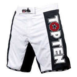 Top Ten Competition MMA Shorts Schwarz Weiss