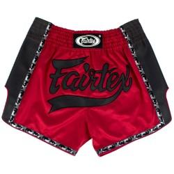 Fairtex Thai Fightshorts Rot Schwarz BS1703