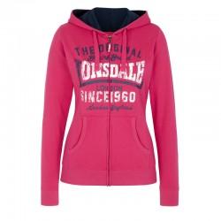 Lonsdale Wycombe Damen Zipsweater Pink