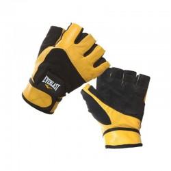 Everlast Weight Lifting Gloves Black Yellow EWG001