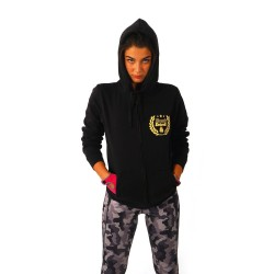Kronk Laurel Wreath Zip Hoodie Black