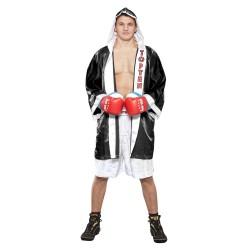 Top Ten Get In The Ring Boxmantel Schwarz Weiss