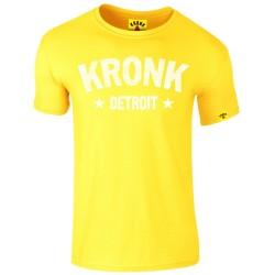 KRONK Detroit Stars Slimfit T Shirt Yellow White