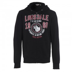 Lonsdale Milton Herren Zipsweater Black