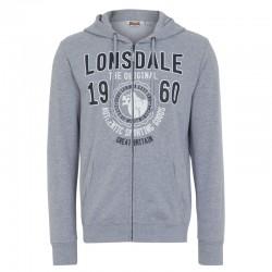 Lonsdale Milton Herren Zipsweater Marl Grey