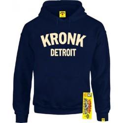 KRONK Detroit Hoodie Navy Cream